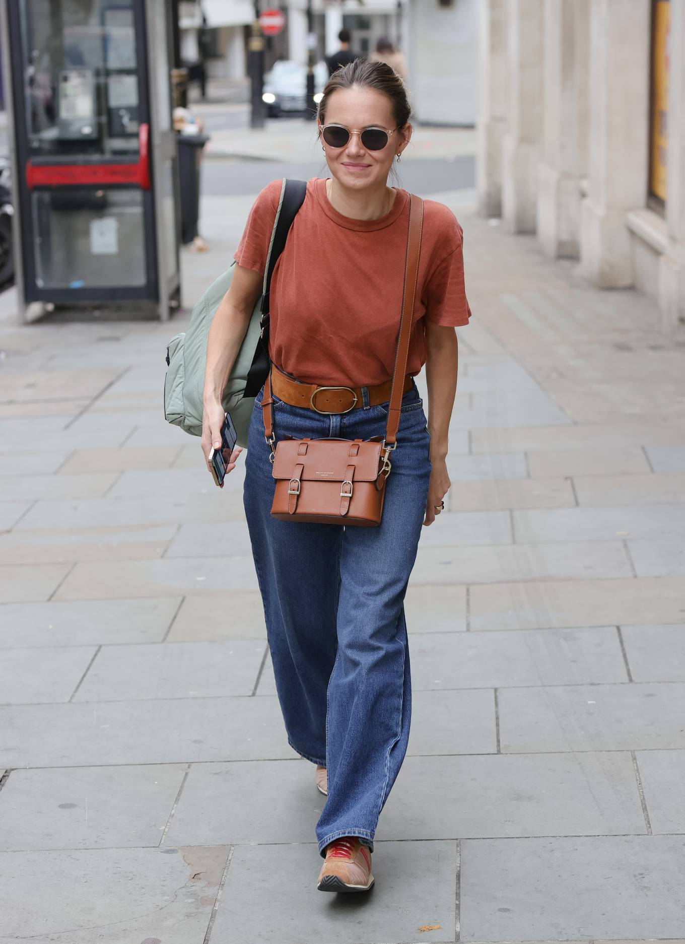 Kara Tointon 2021 : Kara Tointon – In flared denim pants stepping out in London-12
