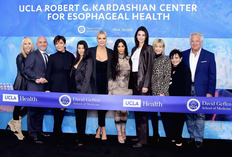 Kardashian and Jenner - UCLA Robert G. Kardashian Center For Esophageal Health Dedication Event