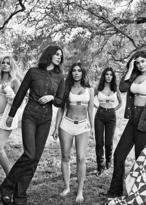 Kardashian Jenner Sisters Calvin Klein Underwear And Jeans Campaign 12 Kylie