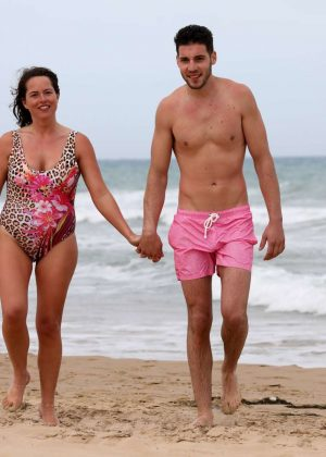 Karen Danczuk in Swimsuit in Spain