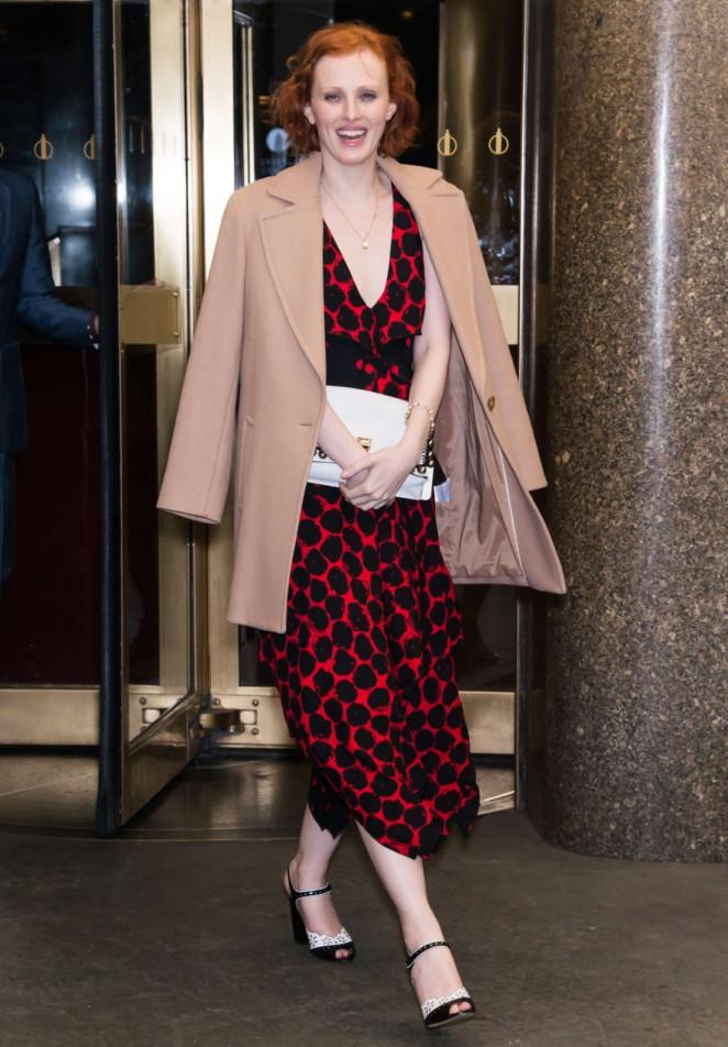 Karen Elson - Arrives at V Magazine Party 2016 in New York