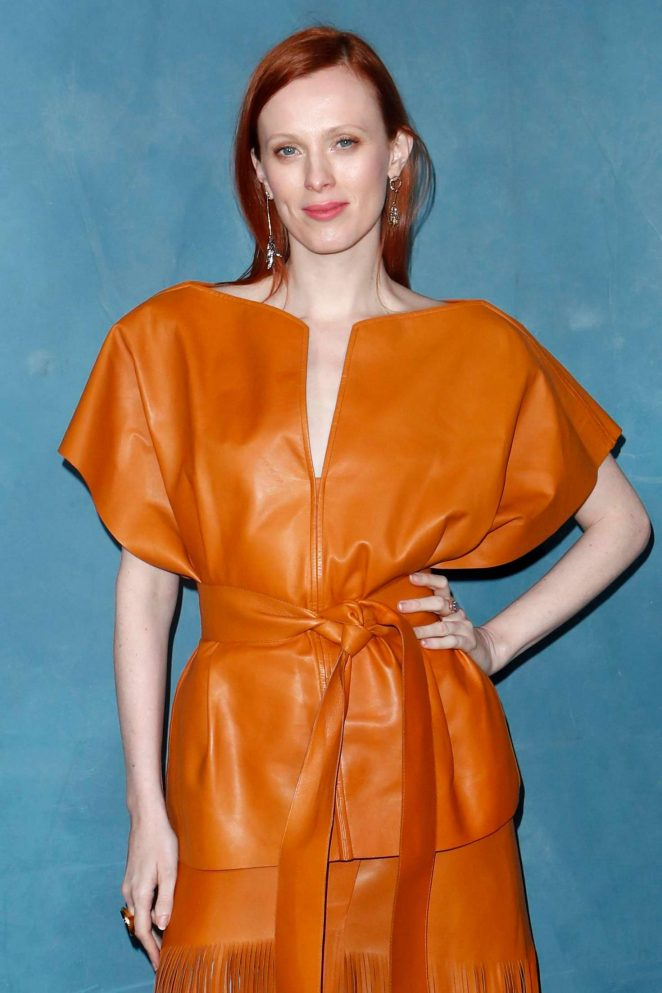 Karen Elson – Givenchy Fashion Show in Paris