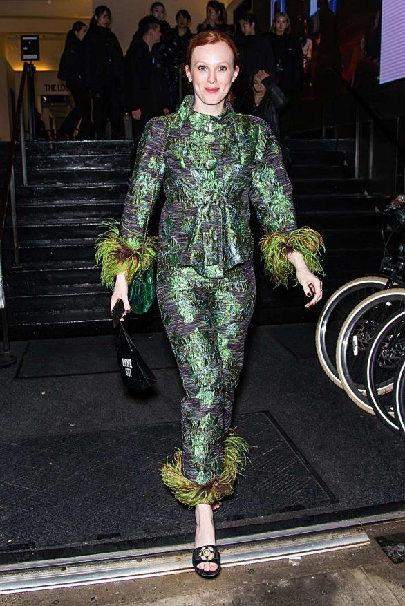 Karen Elson - Leaving Anna Sui Fashion Show 2020 at New York Fashion Week