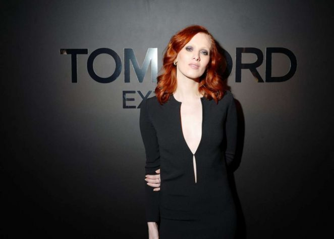 Karen Elson - Tom Ford: EXTREME Cocktail Party FW 2018 in NY
