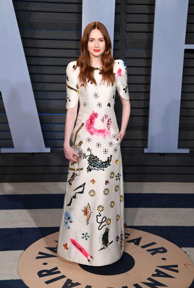 Karen Gillan - 2018 Vanity Fair Oscar Party in Hollywood