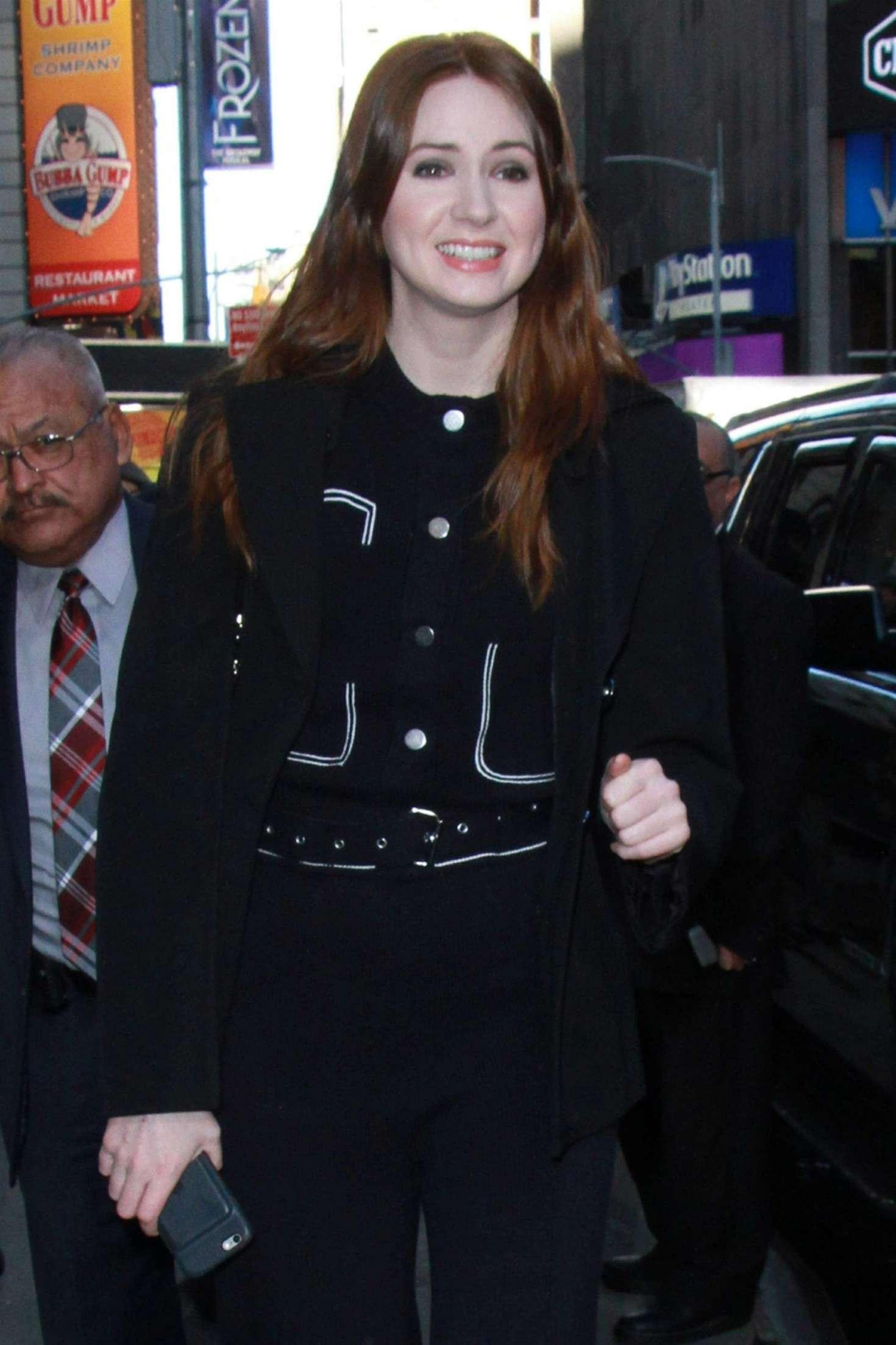 Karen Gillan - Arrives at ;Good Morning America in New York City