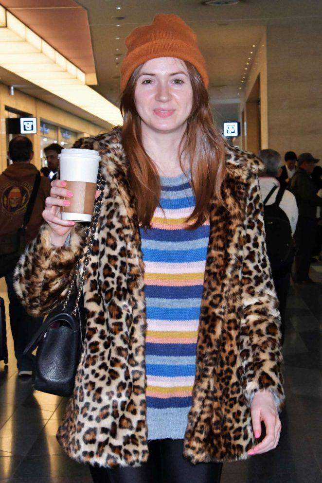Karen Gillan at Airport in Tokyo
