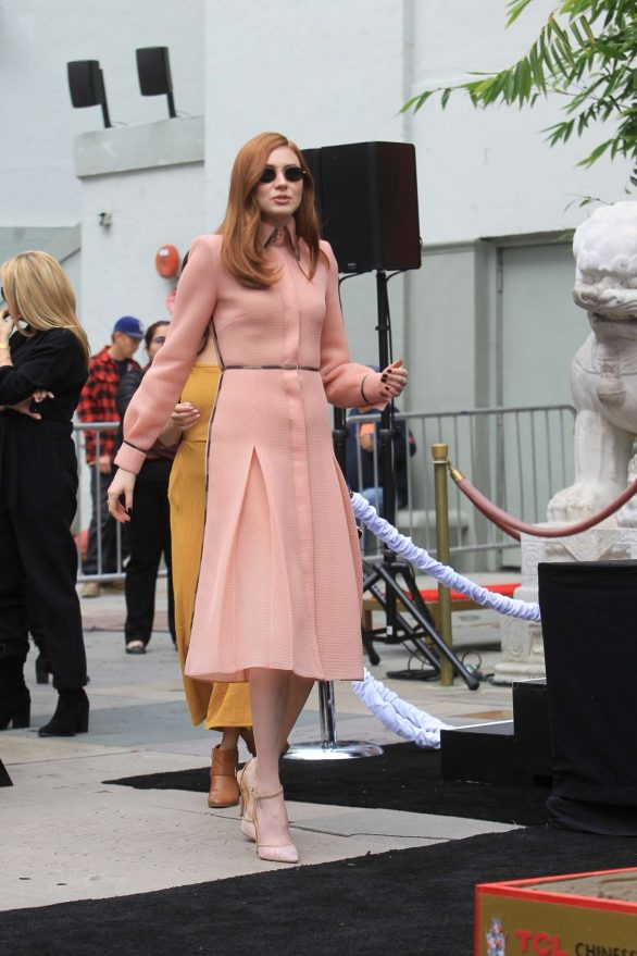 Karen Gillan - Kevin Hart's Hand and Footprint Ceremony in Hollywood