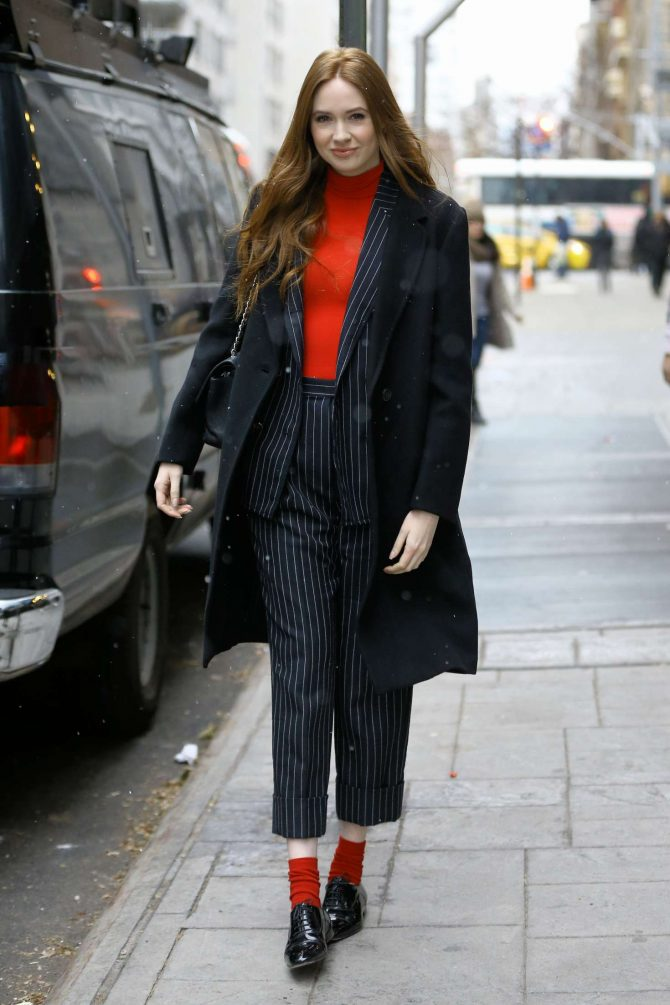 Karen Gillan – Leaving Good Day New York in New York City