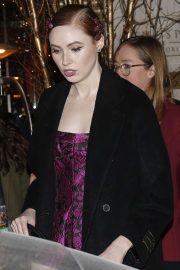 Karen Gillan - Leaving her hotel in Paris