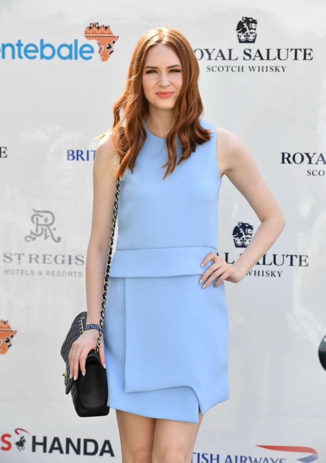 Karen Gillan - Sentebale Royal Salute Polo Cup in Singapore
