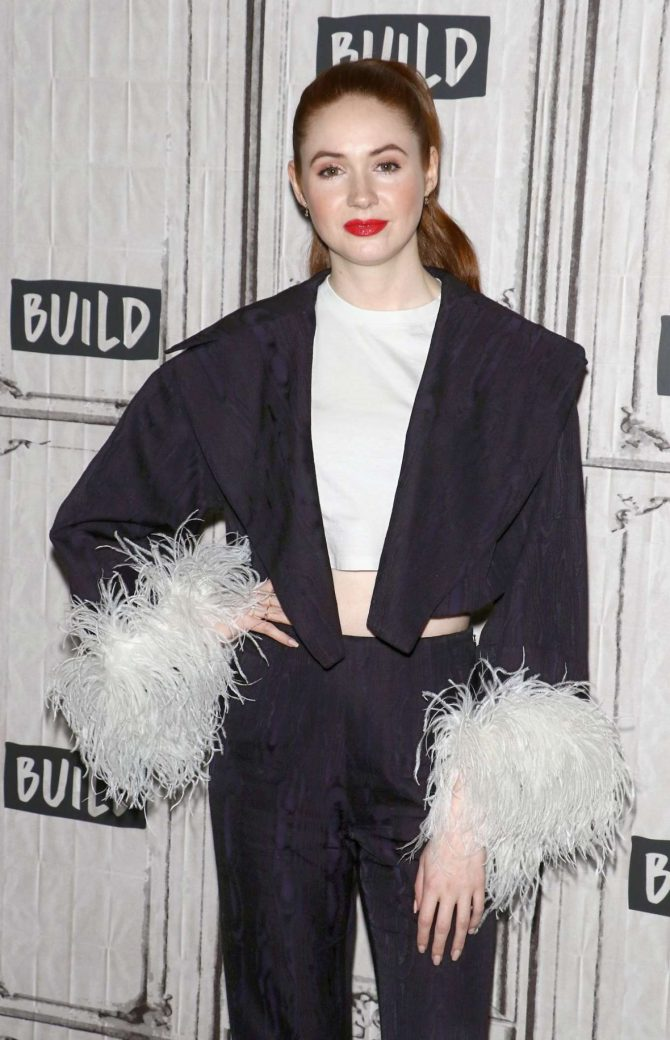 Karen Gillan - Visits AOL Build Series in New York City
