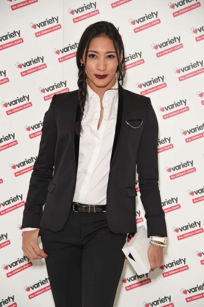Karen Hauer - Torvill & Dean Tribute Lunch in aid of Variety in London