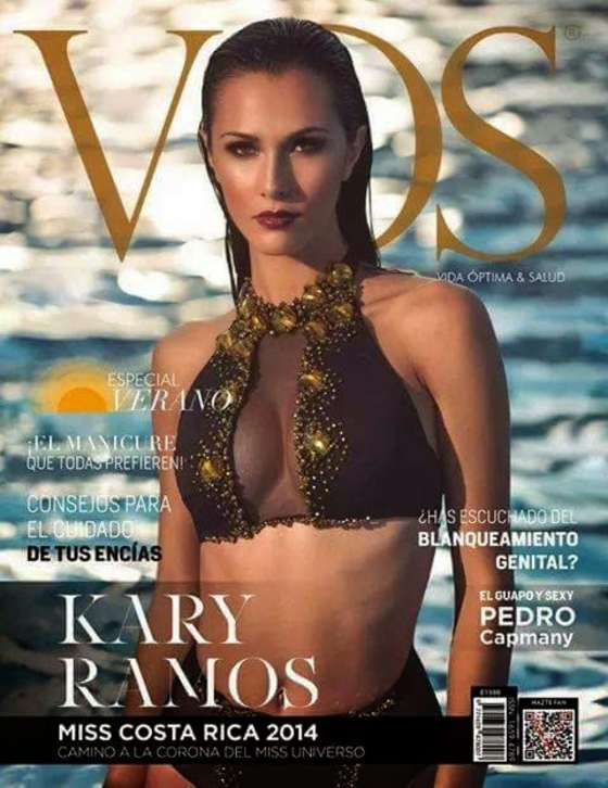 Karina Ramos - VOS Costa Rica Cover Magazine (January 2015)