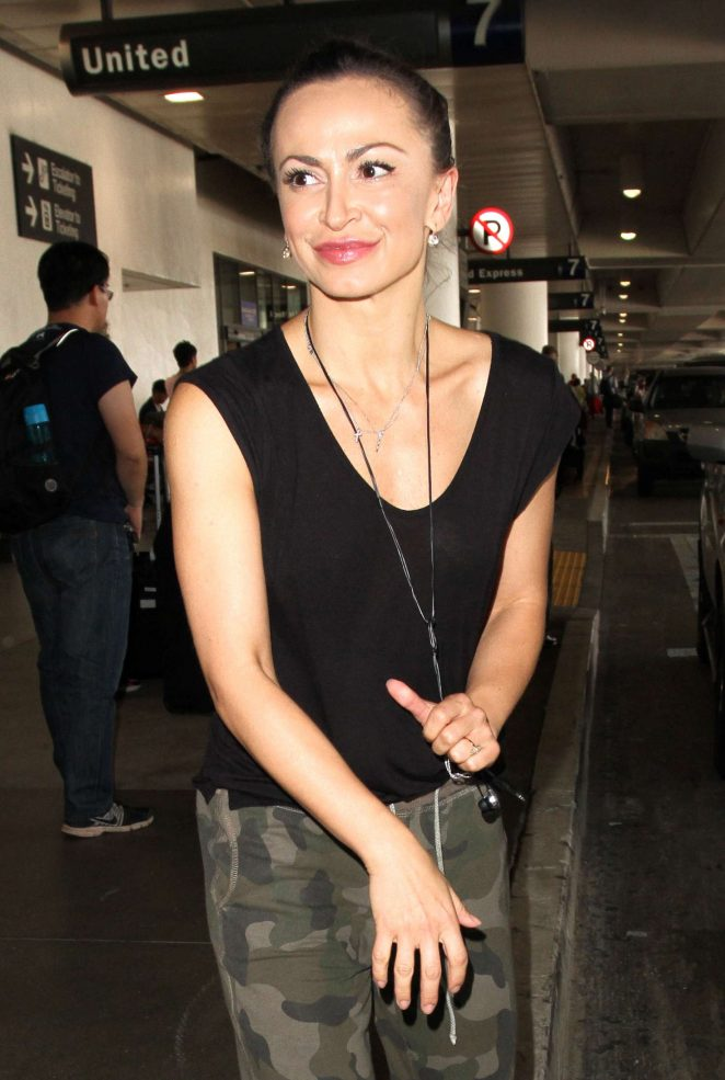 Karina Smirnoff at LAX Airport in Los Angeles