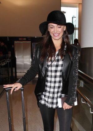 Karina Smirnoff at Los Angeles International Airport