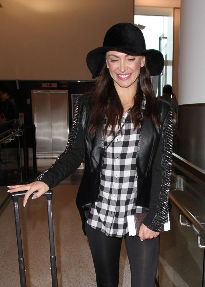 Karina Smirnoff at Los Angeles International Airport