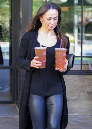 Karina Smirnoff in Jeans at dance studio in Woodland Hills