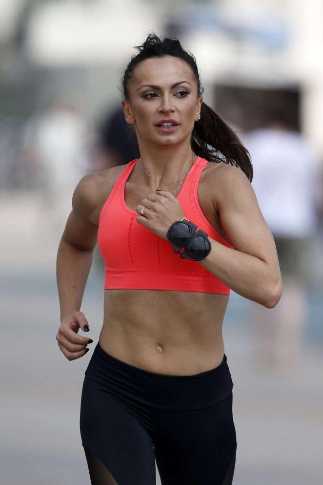 Karina Smirnoff in Leggings workout -06