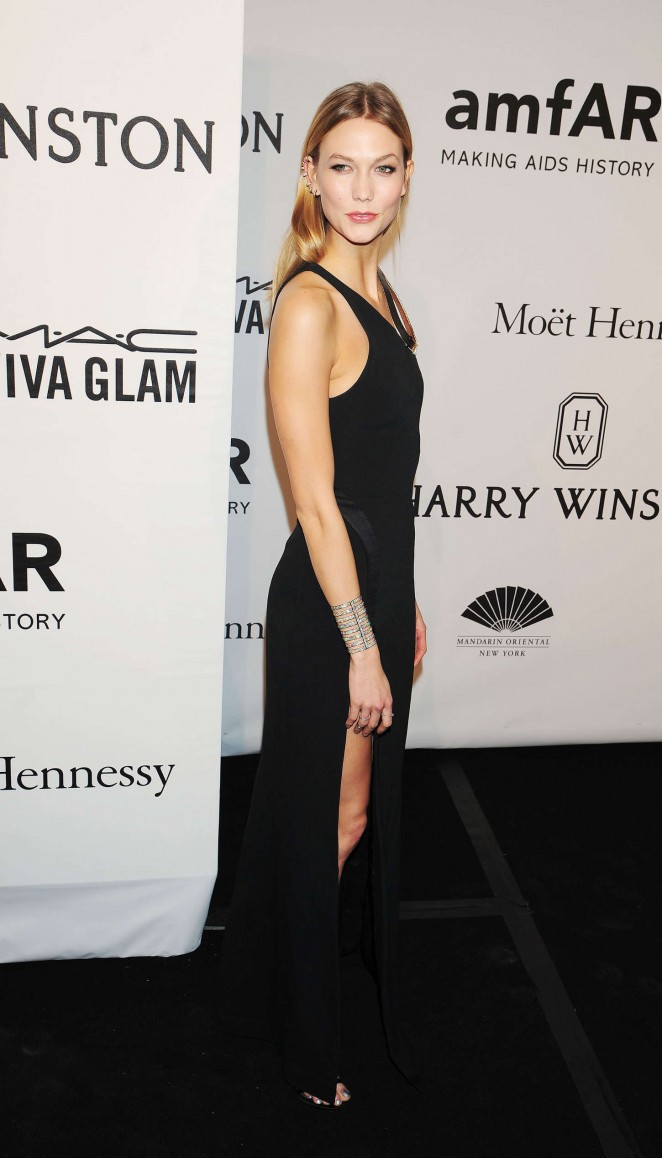 Karlie Kloss: 2015 amfAR New York Gala -01