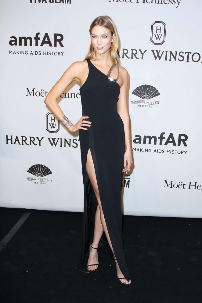 Karlie Kloss: 2015 amfAR New York Gala -02