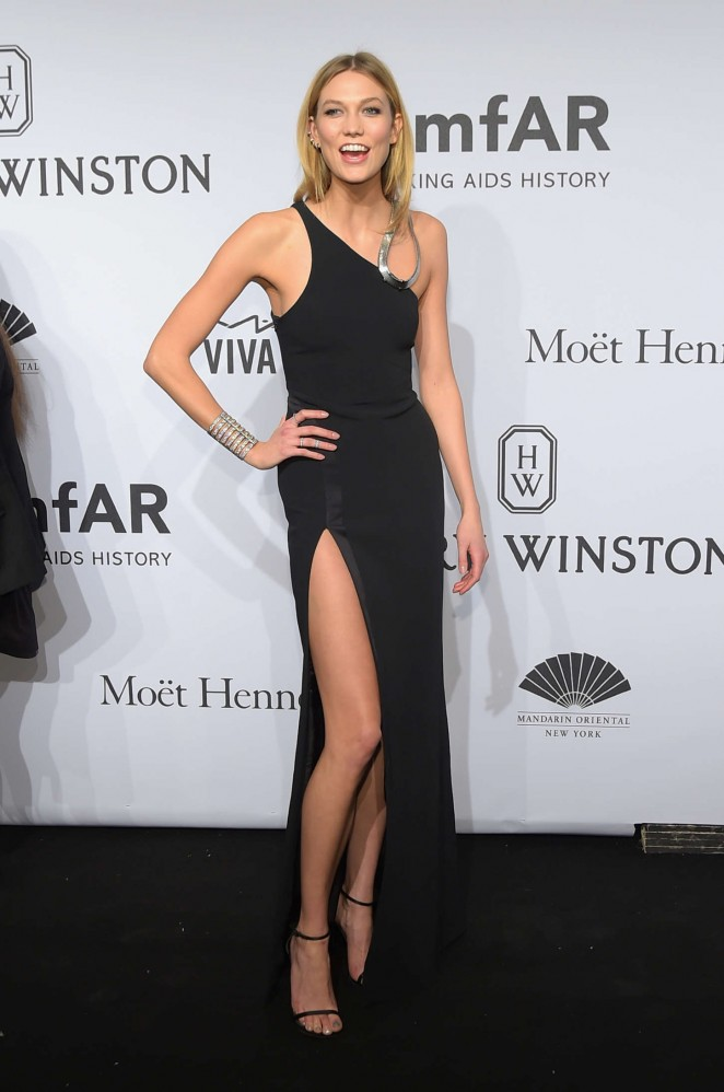 Karlie Kloss: 2015 amfAR New York Gala -03