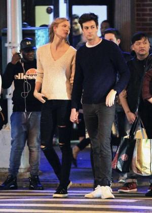 Karlie Kloss and Joshua Kushner at Knicks vs Cavaliers Game in NYC