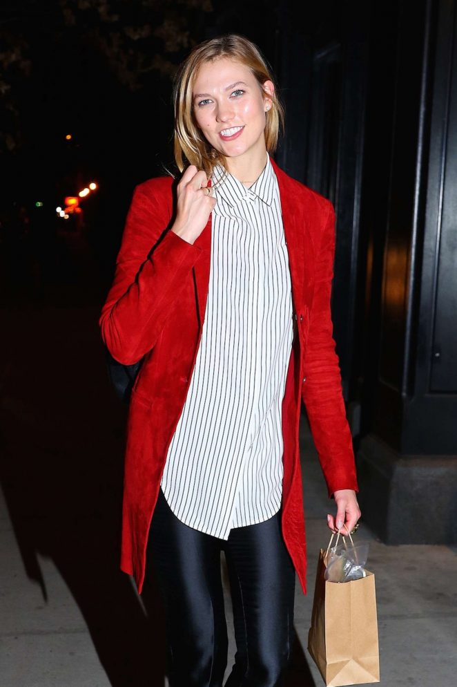 Karlie Kloss Arrives at International Women's Day in NY