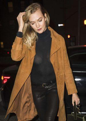 Karlie Kloss - Arrives at Restaurant in NYC