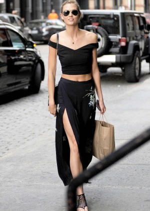 Karlie Kloss in Long Skirt out in NYC