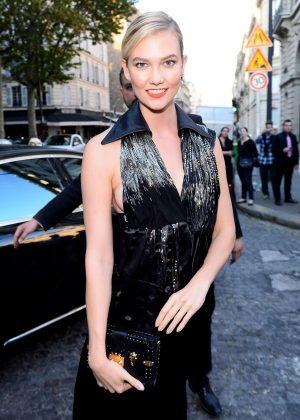 Karlie Kloss - Arriving at Vogue Dinner Party in Paris