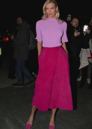 Karlie Kloss at Carolina Herrera Fashion Show in NYC