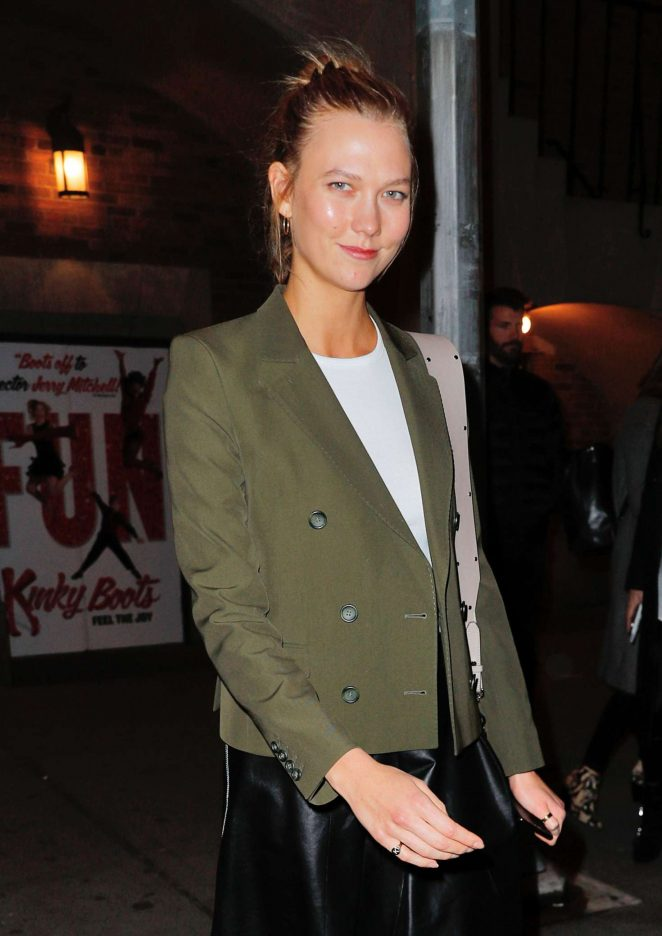 Karlie Kloss at Kinky Boots Broadway Show in New York