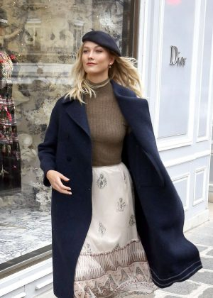 Karlie Kloss at the Dior store in Paris