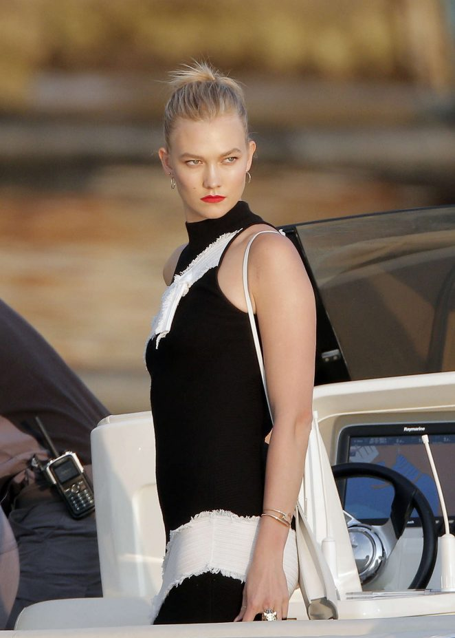 Karlie Kloss at the Hotel du Cap in Cannes