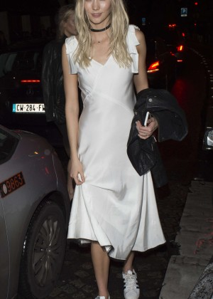 Karlie Kloss at the L'Arc Nightclub in Paris