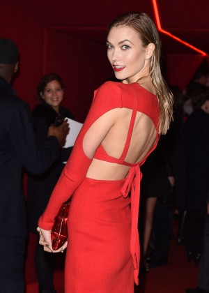 Karlie Kloss - Attends at L'Oreal Red Obsession Party 2016 in Paris