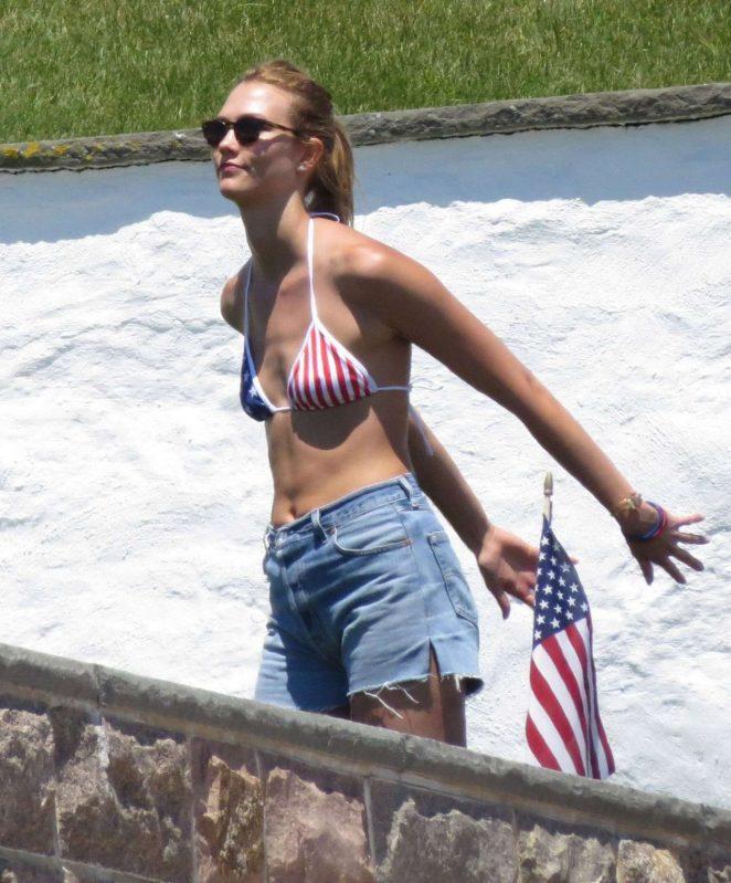 Karlie Kloss - Bikini Candids in Rhode Island