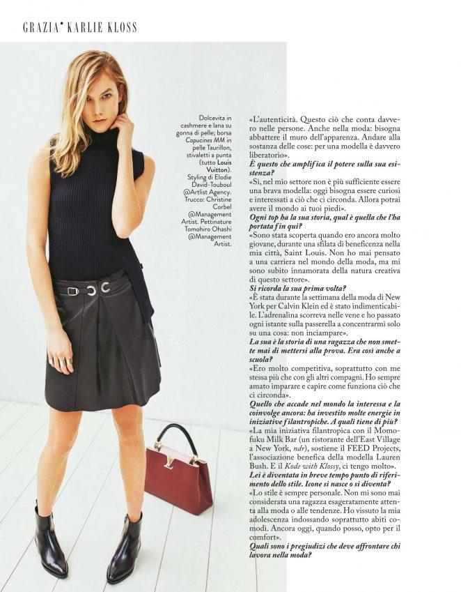 Karlie Kloss Grazia Italy 2016 06 Gotceleb