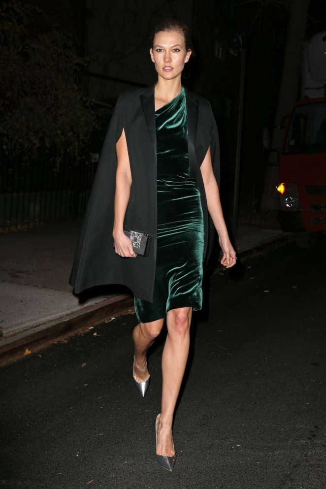 Karlie Kloss – Heading to a Party in New York