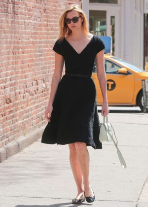 Karlie Kloss in Black Dress out in New York City