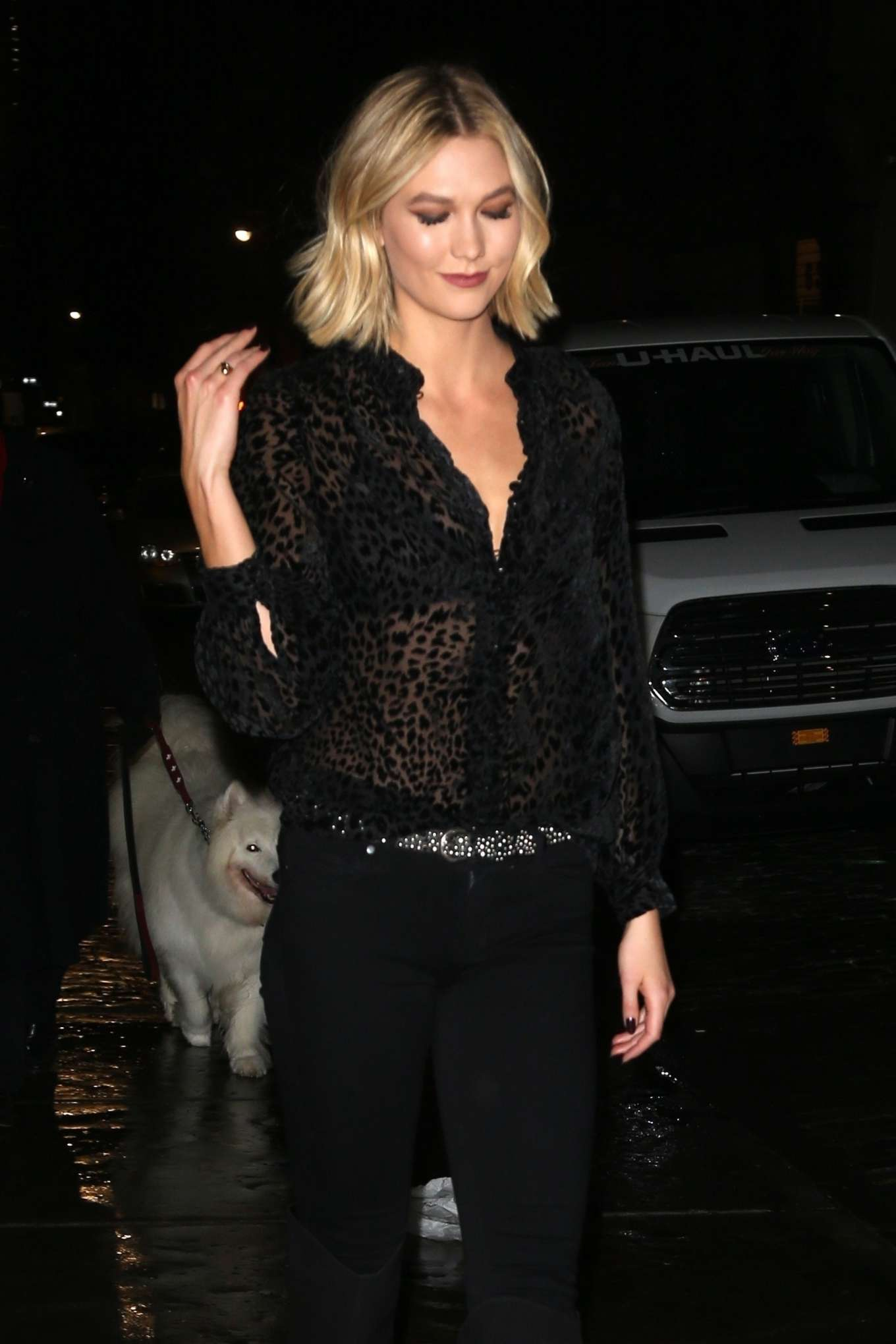 Karlie Kloss in Black - Out in New York City