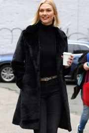 Karlie Kloss in Black Outfit - Out in New York
