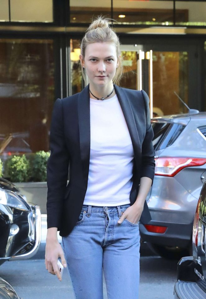 Karlie Kloss in Jeans out and about in New York