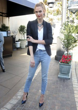 Karlie Kloss in Jeans out in Los Angeles