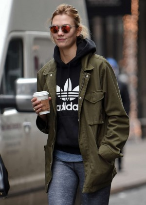 Karlie Kloss in Jeans out in New York City