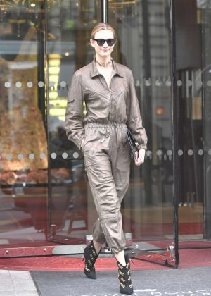 Karlie Kloss in Jumpsuit Leaving her hotel in Paris