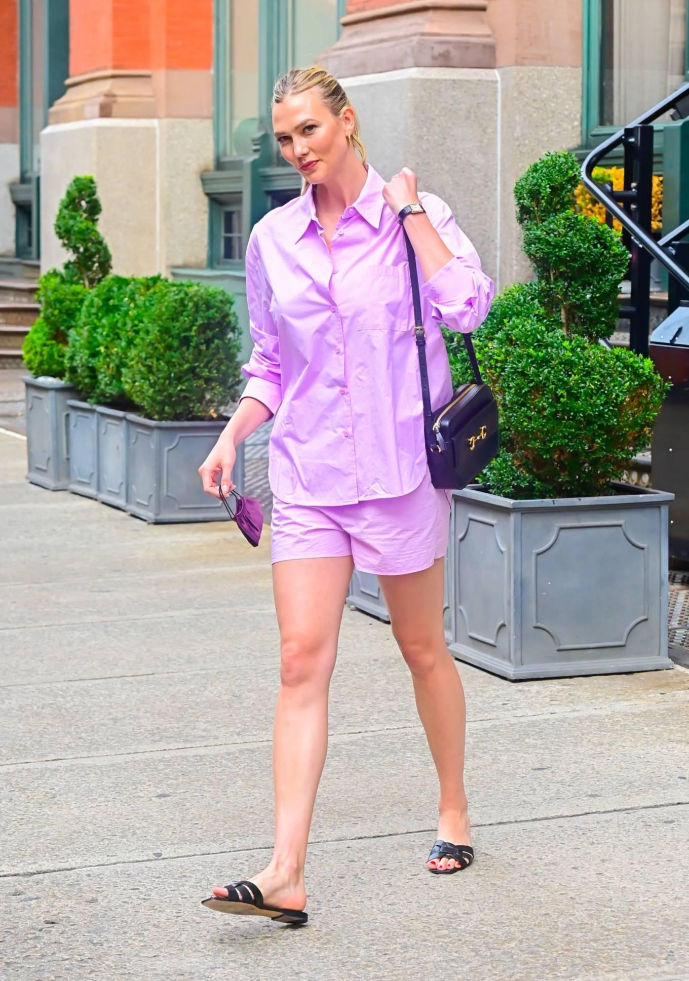 Karlie Kloss 2021 : Karlie Kloss – In lilac seen walking in SoHo in New York City-04