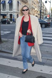 Karlie Kloss in Long Coat - Out and about in Paris