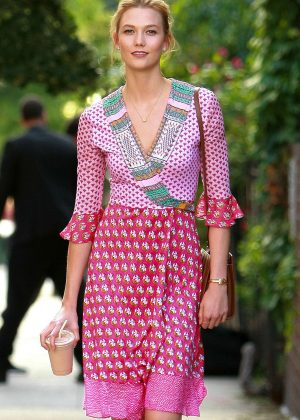 Karlie Kloss in Pink out in New York